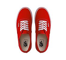 Vans - Red Photographic Print