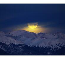 January Moon Set 10 x 8 Photographic Print