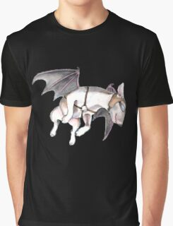 If Pigs Could Fly - on black Graphic T-Shirt