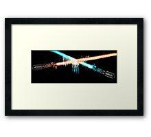 Lightsaber Clash Framed Print