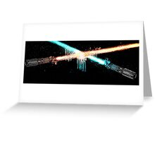 Lightsaber Clash Greeting Card