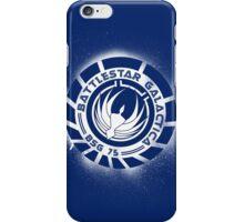 Battlestar Galactica Grunge - Dark Blue and White iPhone Case/Skin