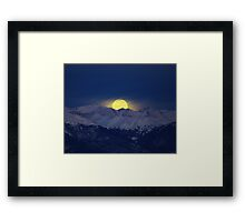 January Moon Set Part Two 10 x 8 Framed Print