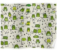 Funny frogs Poster