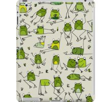 Funny frogs iPad Case/Skin