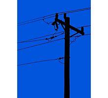 Telephone Pole Power Line Silhouette Photographic Print
