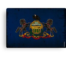 Pennsylvania State Flag VINTAGE Canvas Print