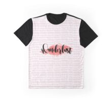Wanderlust - Pink Graphic T-Shirt