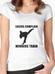 Martial Arts Winners Train Women's Fitted Scoop T-Shirt