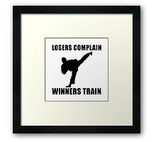 Martial Arts Winners Train Framed Print