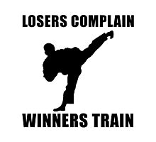 Martial Arts Winners Train Photographic Print