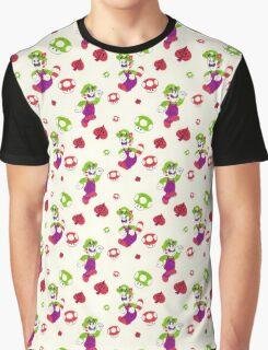 Raccoon Luigi Pattern Graphic T-Shirt