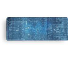 Star Wars Blueprints  Canvas Print