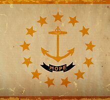 Rhode Island State Flag VINTAGE by Carolina Swagger