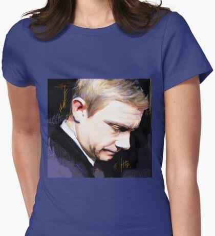 Martin Freeman Artwork Design 1 Womens Fitted T-Shirt