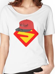 Superwoman logo +cap Women's Relaxed Fit T-Shirt
