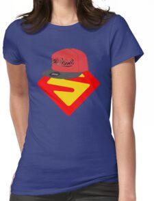 Superwoman logo +cap Womens Fitted T-Shirt