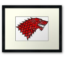House Stark (blood) Framed Print