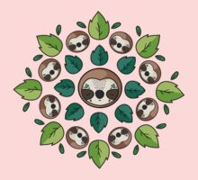 Mandala Sloth One Piece - Short Sleeve