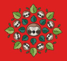 Mandala Sloth Kids Tee