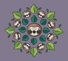 Mandala Sloth Kids Tee
