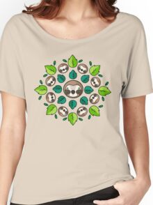 Mandala Sloth Women's Relaxed Fit T-Shirt