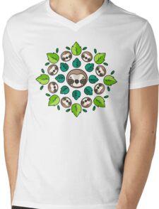 Mandala Sloth Mens V-Neck T-Shirt
