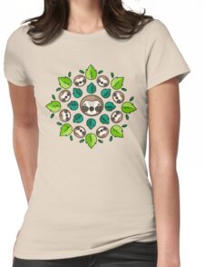 Mandala Sloth Womens Fitted T-Shirt