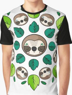 Mandala Sloth Graphic T-Shirt
