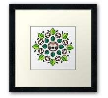Mandala Sloth Framed Print