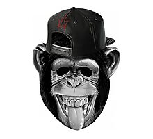 Monkey with cap Photographic Print