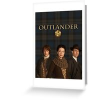 Jamie, Claire & Frank on plaid Greeting Card