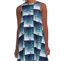 music blue A-Line Dress
