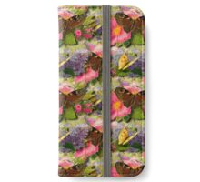 Brown and Yellow Vintage Butterflies iPhone Wallet/Case/Skin