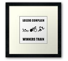 Triathlon Winners Train Framed Print