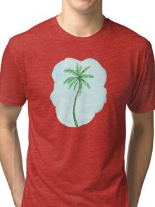Watercolor Tropical Palm Tree Tri-blend T-Shirt