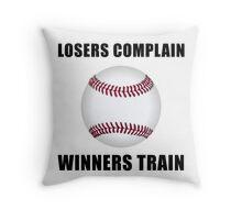Baseball Winners Train Throw Pillow