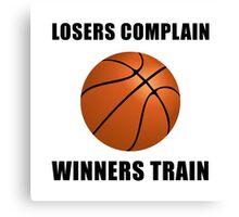 Basketball Winners Train Canvas Print