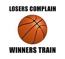 Basketball Winners Train Photographic Print
