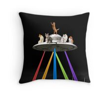 CAT INVADERS Throw Pillow