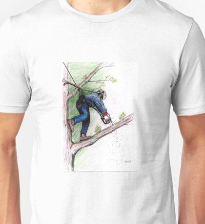 Arborist Tree Surgeon Lumberjack Logger Stihl chainsaw Husqvarna Unisex T-Shirt