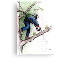 Arborist Tree Surgeon Lumberjack Logger Stihl chainsaw Husqvarna Canvas Print