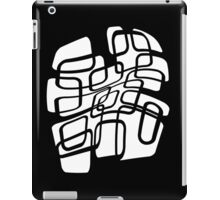 black and white abstract design iPad Case/Skin