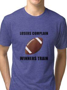 Football Winners Train Tri-blend T-Shirt