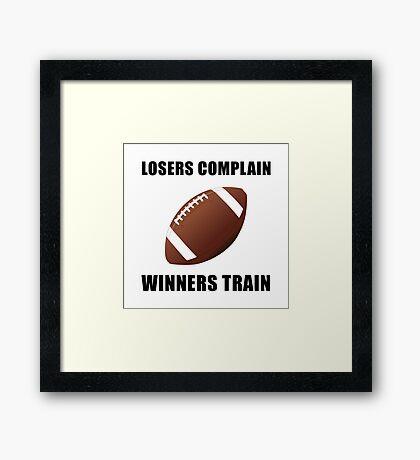 Football Winners Train Framed Print