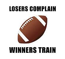 Football Winners Train Photographic Print
