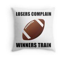 Football Winners Train Throw Pillow