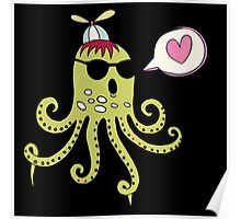 Love Octopus Poster