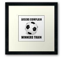 Soccer Winners Train Framed Print