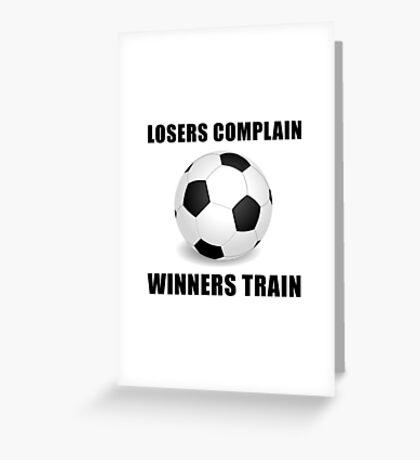 Soccer Winners Train Greeting Card